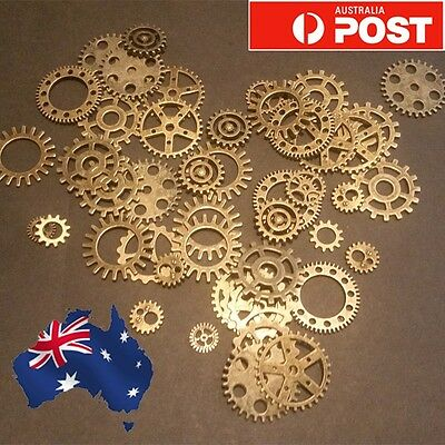 Vintage Gear Cogs Steampunk Scrap booking card craft charms 1-100 Pack