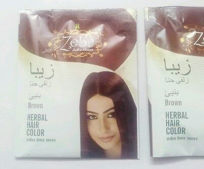 80d8007947812 6 x 10 gm Brown Henna Hair Color Powder enriched with Herbs for Shiny Silky  Hair