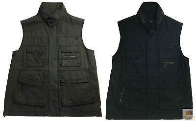 Men's Fishing Hunting Shooting VEST Cotton Outdoor Army Jacket Multi Pocket New
