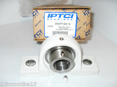 New Iptci Snatp 206 19  Pillow Block Bearing Thermoplastic ** New In The Box***