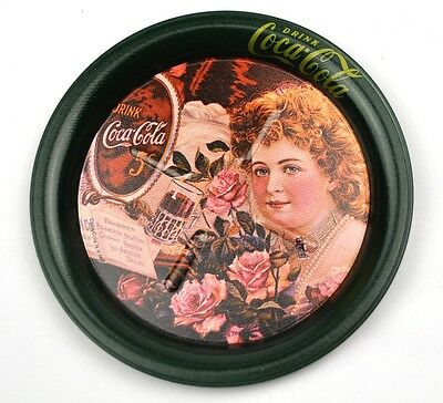 Coca-Cola Coke USA Blech Metall Untersetzer Coaster - Cola Girl Motiv 4
