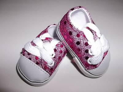 5ed180a508f1 Hot Pink Glitter Sneakers Doll Clothes made for 18
