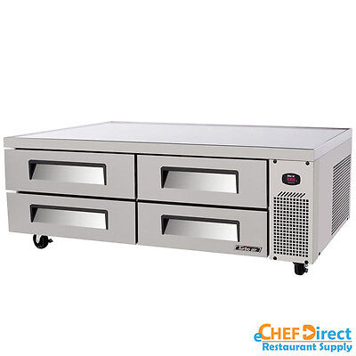 """Turbo Air TCBE-72SDR-N 72"""" Four Drawes Refrigerated Chef Base"""