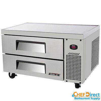 """Turbo Air TCBE-36SDR-N6 36"""" Two Drawers Refrigerated Chef Base"""