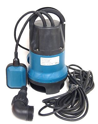 Submersible Water Pump 3/4 HP 14400 L/H Trash Clean Water Flooding Pool Garden