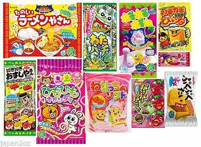 10 PIECE JAPANESE CANDY SET Kracie Popin Cookin Japanese Candy Ramune Christmas
