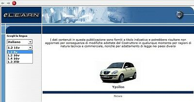 Manuale Officina Lancia Ypsilon Workshop Manual Service Software E-Learn