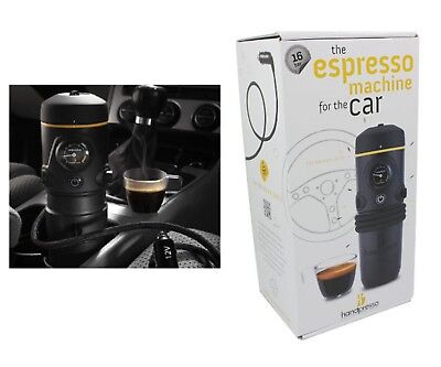 NEW HANDPRESSO AUTO BLACK ESE Car Espresso Machine Wild Hybrid Coffee Maker