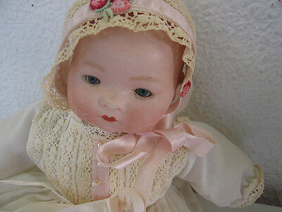 Antique 27 Cm. Kiddiejoÿ 1/0 Bisque Socket Head Character Baby Doll