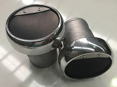 Exhaust Outlet Tips 3 DOMED TAWCO MARINE BOAT OUTBOARD RACE V8 SKI   BBC SBC