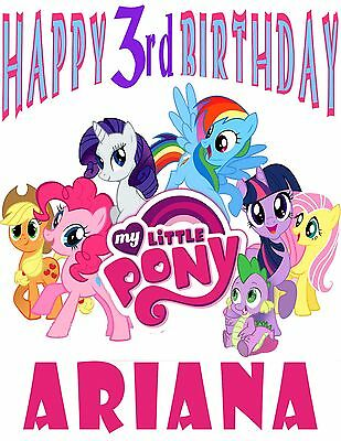 Personalized Custom My Little Pony Birthday Party Gift T Shirt Name On T