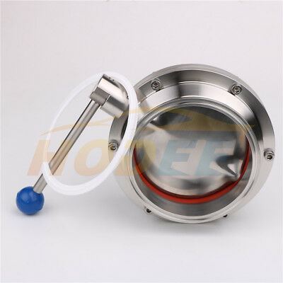 """6""""/152mm Sanitary Stainless Steel TriClamp Butterfly Valve, SS304 Silicone SEAL"""