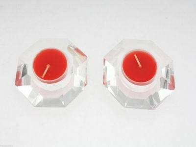 2pk Lead Crystal tealight holder buy 1 get 1 free reduced to clear