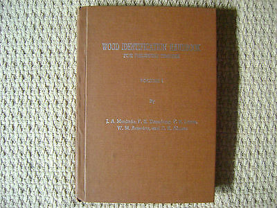 "coll. ""Wood Identification Handbook for Philippine Timbers"" 2 volumes, anglais"