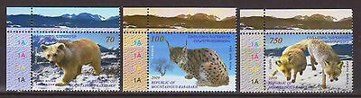 Nagorno Karabakh Armenia Fauna Set Of 3 Stamps Mnh 2009 Bear Lynx Fox R16648