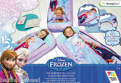 Disney Frozen Bed Junior Ready Sleeping Bag Readybed Kids Sleepover Airbed