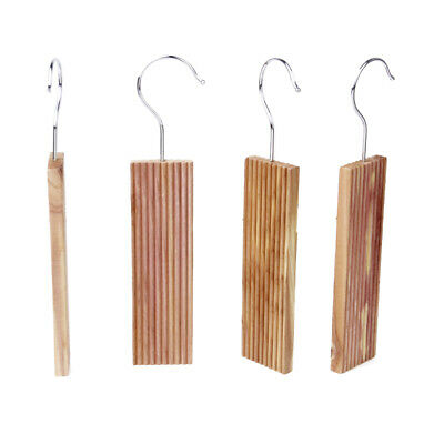 4pc Natural Cedar Moth Repellent Hang Up Blocks for Wardrobe Clothes Drawers