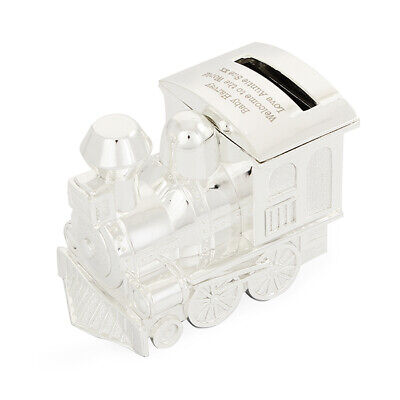 Personalised Engraved Train Moneybox - Christenings, Baptisms, Newborns