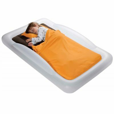 New The Shrunks Toddler Inflatable Travel Bed - With Pump & Built In Bed Rails