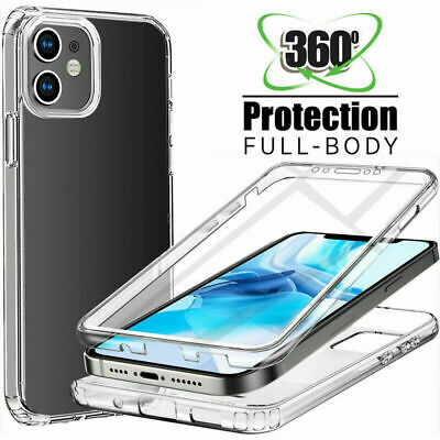 360° Silicone Protective Full Front Back Shockproof Clear Case For iPhone X 8 6s