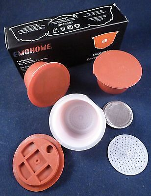 Refillable and Reusable Dolce Gusto Coffee Capsules - 3 Pods BNIB Money Saving!