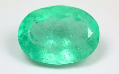 Beautiful 6.47ct Colombian Emerald Natural Green Oval Cut Loose Gemstones