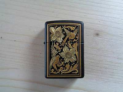 Zippo Lighter Vintage Serie Toledo 523 Floral Portrait New