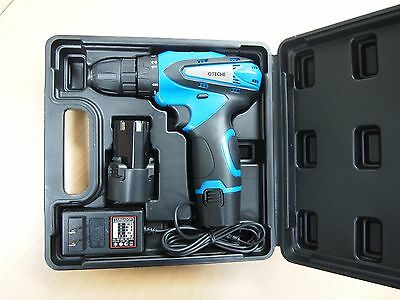 12V Lithium-Ion Cordless Drill Driver Kit with 2 Batteries