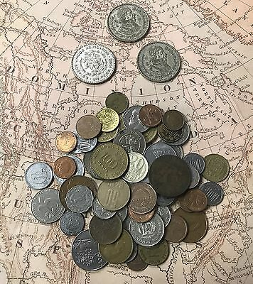 1 lb of Unsearched World Coins Lot - Mixed Foreign Coins