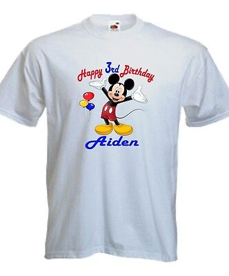 NEW Personalized Custom Mickey Mouse birthday T Shirt Party Favor Gift with Name