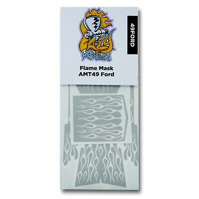 Flame Painting Masks for AMT's 49 - 50 Ford