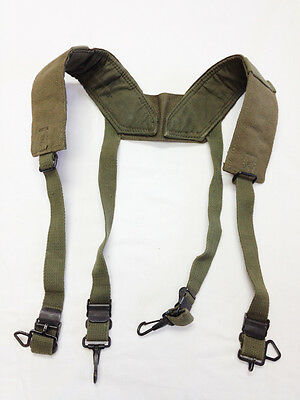 US Military Field Pack Suspenders H-Harness 1950s Regular OD Canvas #1822