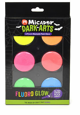 Micador Dark Arts - Set of 6 Fluoro Paint Dics