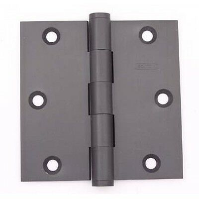 Bolton 3.5 Inch Square Corner Heavy Duty Dark Oxidized Oil Rubbed Bronze Hinge