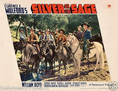 HOPALONG CASSIDY With Posse In SILVER ON THE SAGE 11x14 LC Print 1939