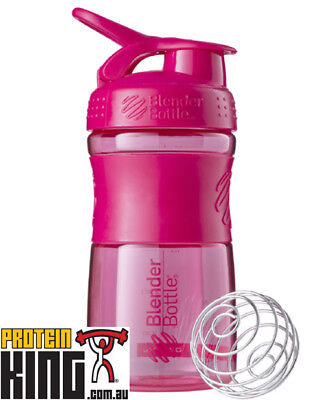Blender Bottle Sport Mixer 590Ml Pink Protein Shaker Cup Gym Sportmixer 20 Oz