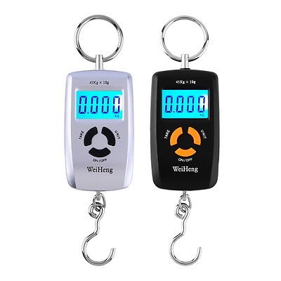 WH-A05L LCD Portable Digital Electronic Scale 10-45kg 10g for Fishing Luggage UR