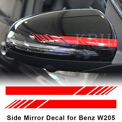 Edition 1 Mirror Red Stripes Decals for Mercedes Benz W205 C200 C300 C45 C63 AMG