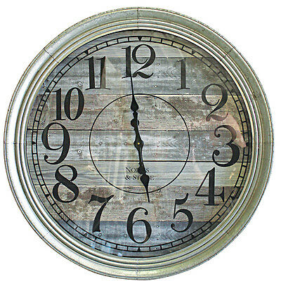 NEW Distressed Panel Mitte Wall Clock