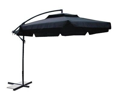 NEW 3M Outdoor Patio Cantilever Umbrella Tilts 360 rotate (325) in Black