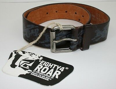 Boy's Belt Car Graphics Silver Buckle Black or Brown Picture Blue NWT RRP $15