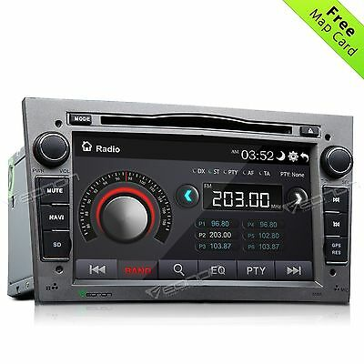 """Grey for Vauxhall Opel 7"""" 2DIN Car DVD Player Radio Stereo GPS BT Touch Screen O"""