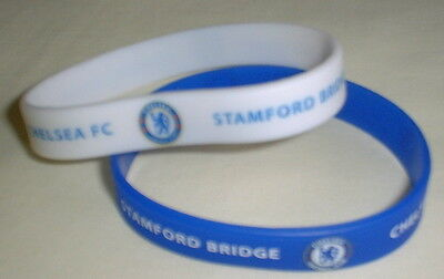 Chelsea Rubber Wristband x 2 - New, Official Merchandise, Free UK P & P