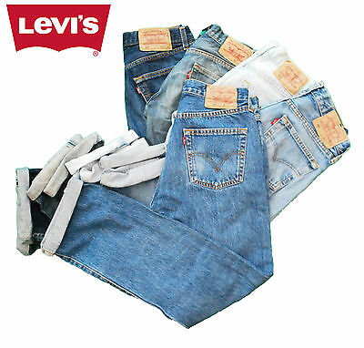 Vintage Levis 501 High Waisted Mom Boyfriend Womens Jeans - Grade A