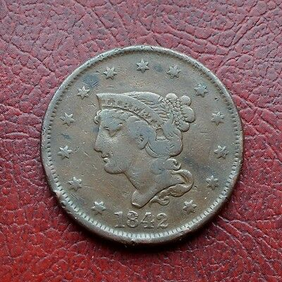 USA 1842 copper large cent