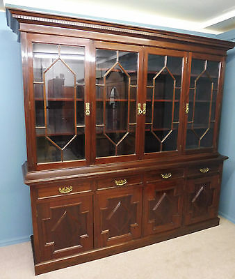 Large Antique Edwardian Mahogany Country House Library Bookcase Circa 1900