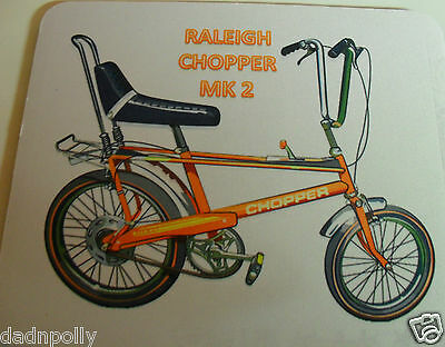 PERSONALISED RALEIGH CHOPPER BIKE 70S ICON Retro Vintage