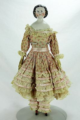 Antique German China Doll with China Feet ca1880