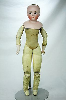 Antique German Bisque Kestner Doll Closed Mouth fixed Eyes ca1890