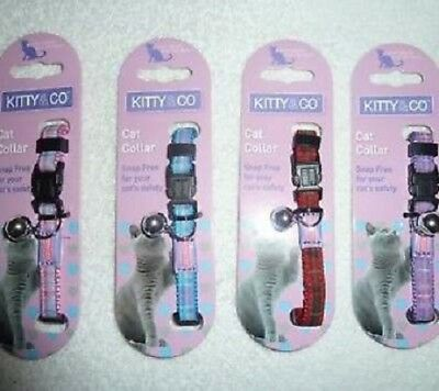 Kitty & Co Snap Free Cat Collars, Reflective x 6, Premium Service Fast Dispatch